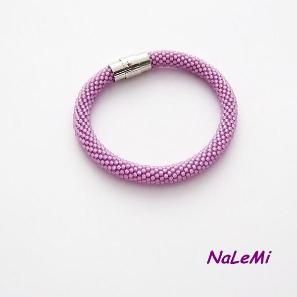 Bransoletka wąż  fioletowa w NaLeMi na DaWanda.com