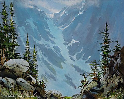 Allan Dunfield, 'An Alpine Viewpoint', 24'' x 30'' | Galerie d'art - Au P'tit Bonheur - Art Gallery