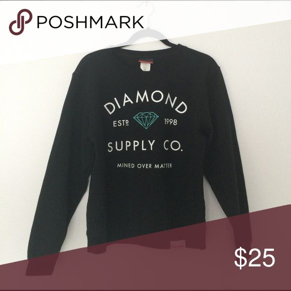 Diamond supply company crewneck Worn just a few times. Sorry I don't trade. Diamond Supply Co. Sweaters Crew & Scoop Necks