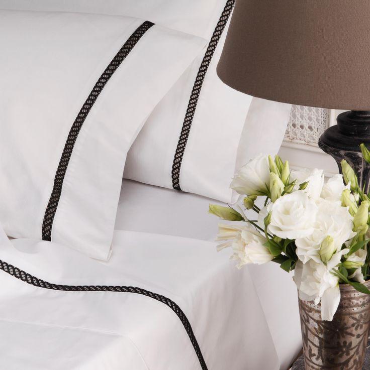 Da Vinci Chiara Black Sheet Set - cotton sheeting - sheets - queenb