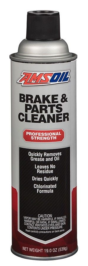 AMSOIL Brake & Parts Cleaner (BPC) quickly removes oil, grease, brake fluid and other contaminants from brake parts and other automotive components. It cleans brake parts with no major disassembly and leaves no residue, helping eliminate brake squeal and chatter. Not available in Canada, California and New Jersey.