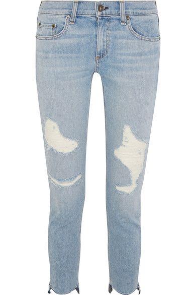 Light-blue denim  Button and concealed zip fastening at front 98% cotton, 2% polyurethane Machine wash
