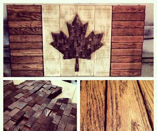 True Patri-Art Love - My Wood Canadian Flag More