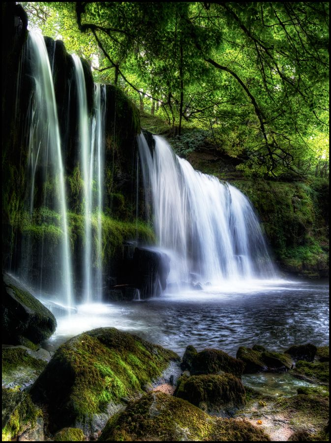 Paradise Falls, Brecon Beacons National Park, Wales, U.K.