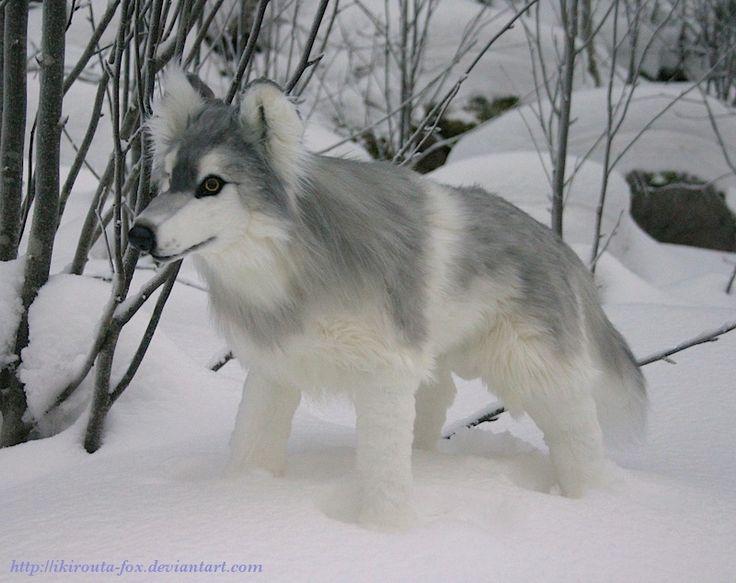 Arctic wolf plush by ikirouta-fox.deviantart.com on @deviantART
