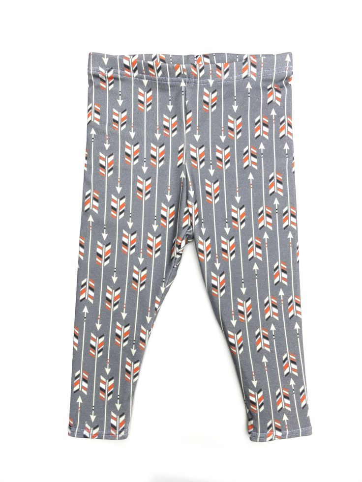Fall 2014 Collection: Orange Appeal Arrows Leggings for your baby or toddler from www.brikhouse.com