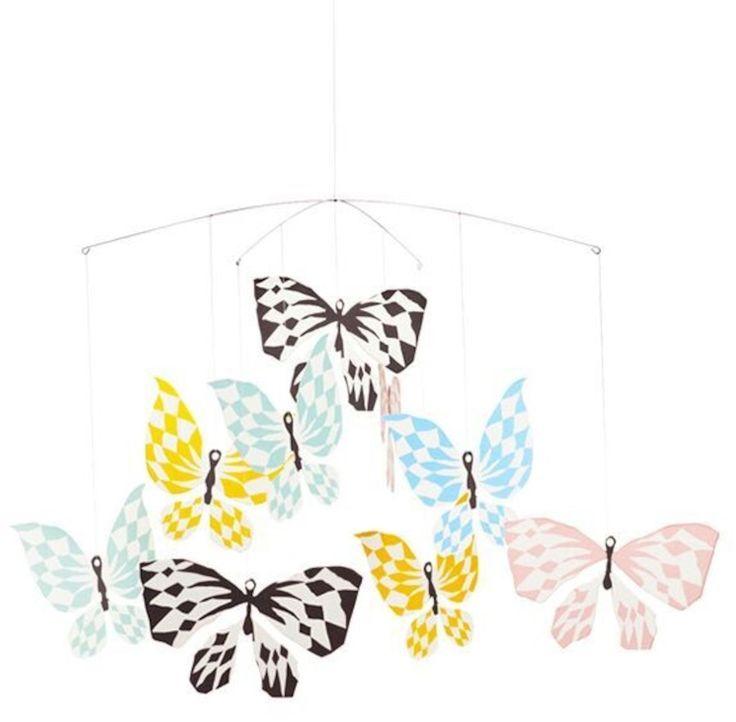 Köp Littlephant Mobil Butterfly | Barnrummet Sängtillbehör | Jollyroom