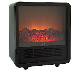 Duraflame 1500W Small Portable Heater with Realistic Flame Effect