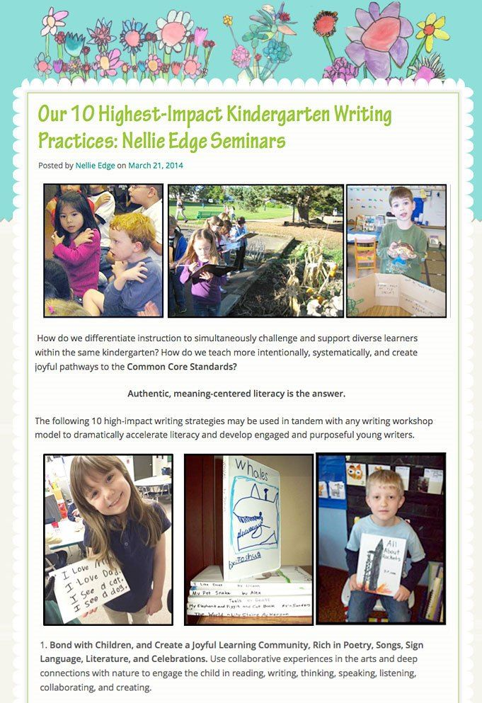Our 10 Highest-Impact Kindergarten Writing Practices