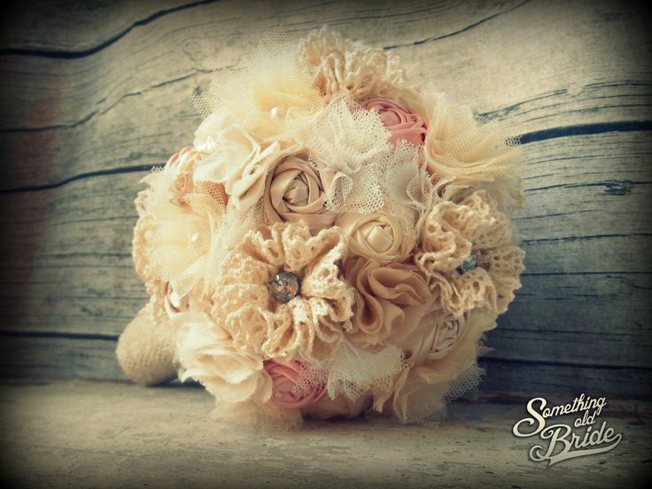 Custom made Vintage Lace Bridal Bouquet www.somethingoldbride.com Facebook/Something Old Bride