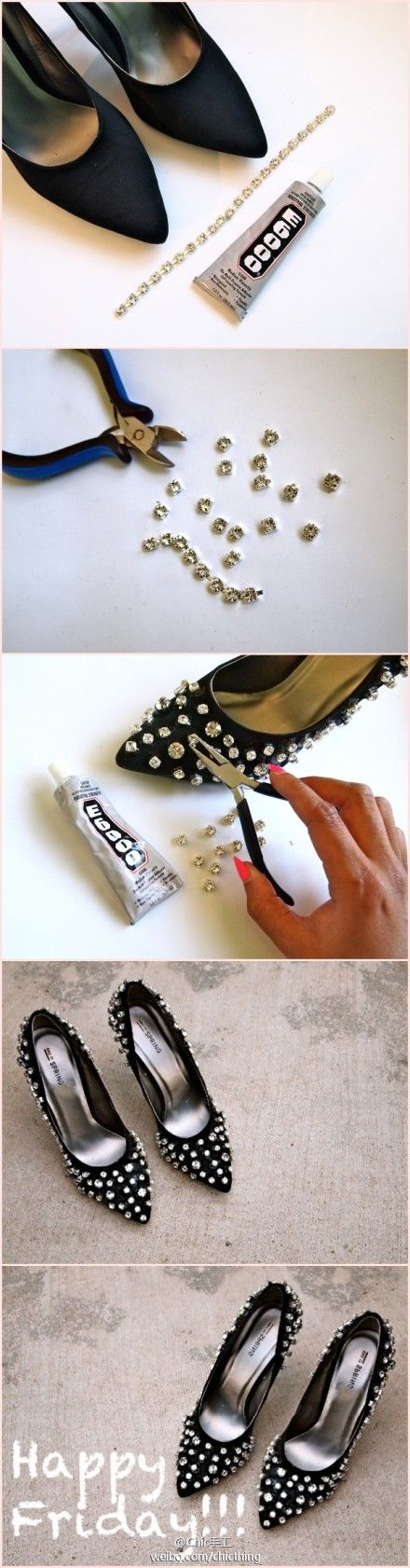 bling out the heels.