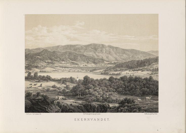 Norge fremstillet i Tegninger - Joachim Frich - Ekernvandet. jpg (6088×4360)