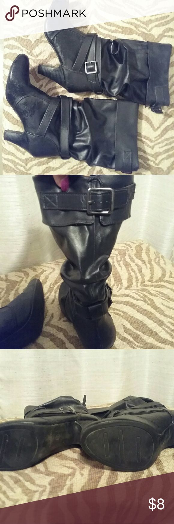 Womens mid calf boots Cute mid calf boots in good condition.  Worn 4 or 5 times Shoes Heeled Boots
