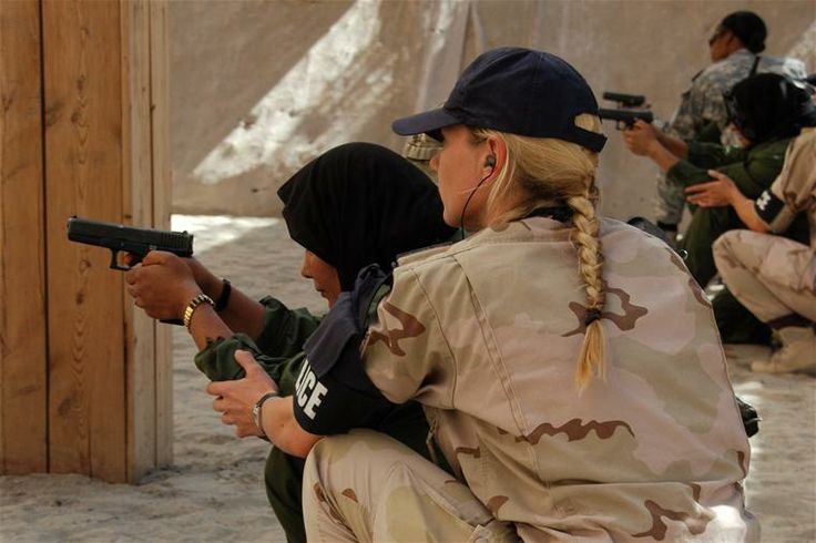 Royal Marechaussee police trainer (female) in Kunduz, Afghanistan (2013)