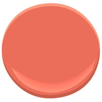 Benjamin Moore's picante 006 still another terrific coral pick for your Salmon/Coral room - another great paint selection for YOU from jannino painting + design boston / cape cod - clearwater / st pete - ft myers / naples from proposal to finish it's quality work on schedule 239-233-5404 #letsgetpainting
