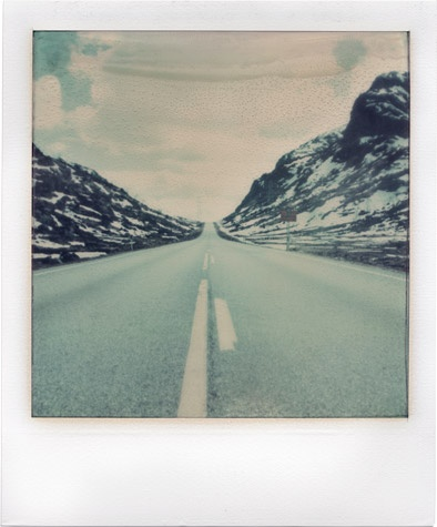 fourlines. photographers Gabriele Chiapparini, Anna Morosini, Elena Vaninetti and Andrea Colombopacked their Polaroid cameras into a rented Ford Galaxy and hit the road for a 24-day journey through Italy, Germany, Denmark, Norway and Sweden.
