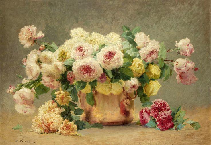 The Athenaeum - Still Life of Roses (Emile Vernon - )