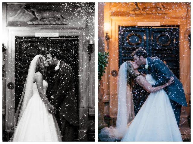 Wedding Photography, Waterton Park Hotel, Wakefield, Wedding, Bride, Groom, Couple, snow, snow machine