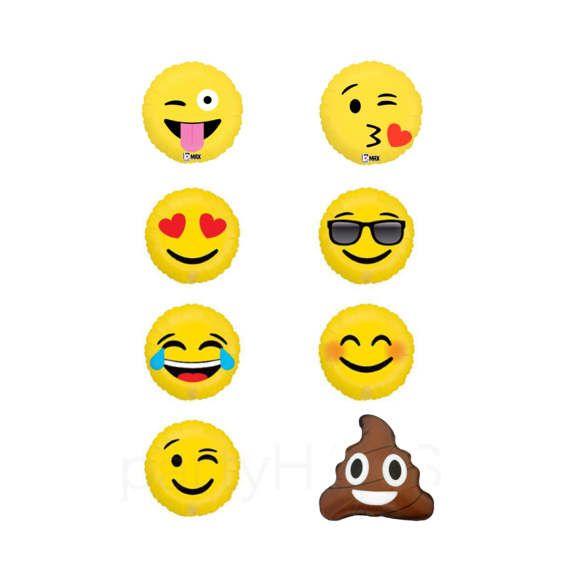 Emoji Balloons 18 Emoticon Love Smiley LOL Wink