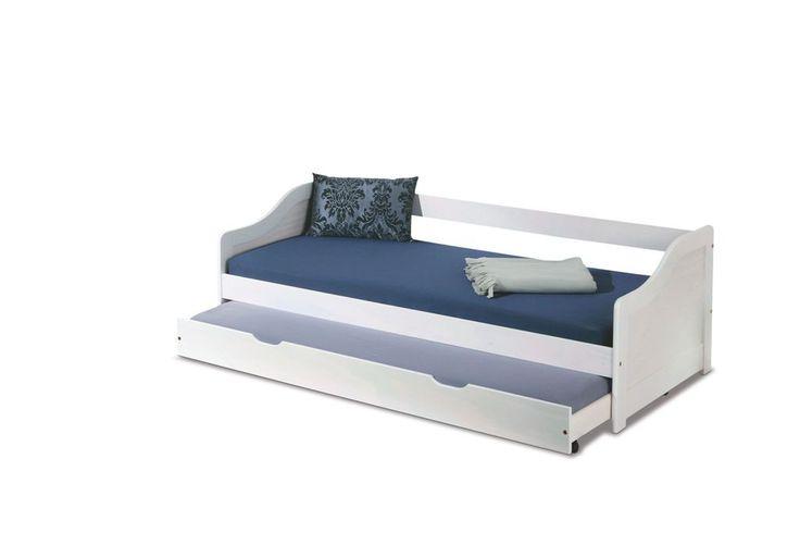 Leonie dwuosobowe łóżko sosnowe dla dzieci 90x200