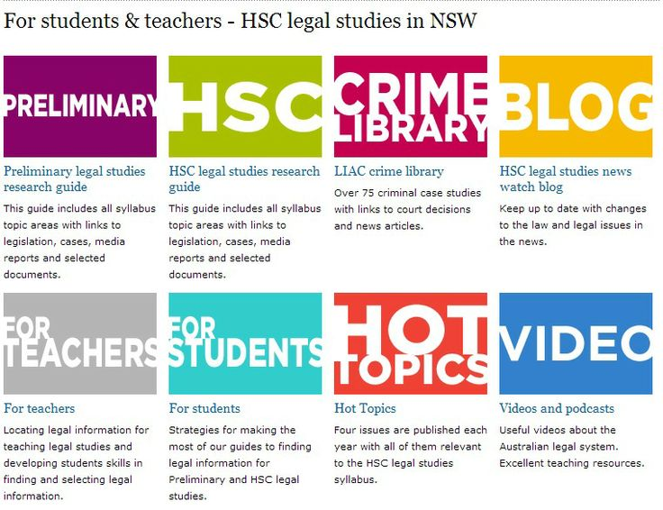 HSC Legal Studies in NSW - material for teachers and students