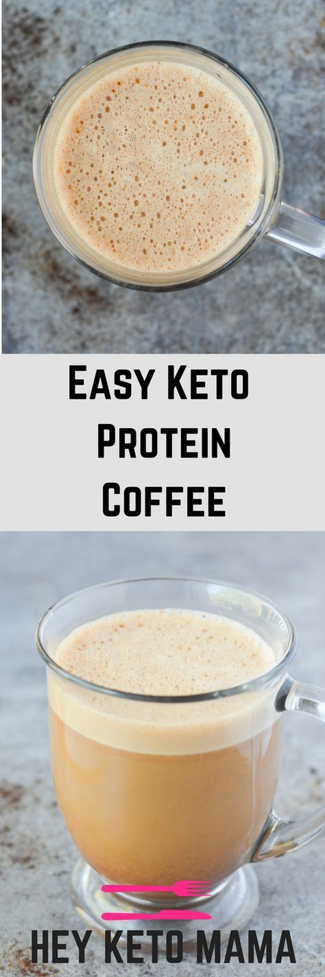 This easy keto protein coffee is the perfect way to start your mornings with healthy fat and yummy flavor! | heyketomama.com via @heyketomama