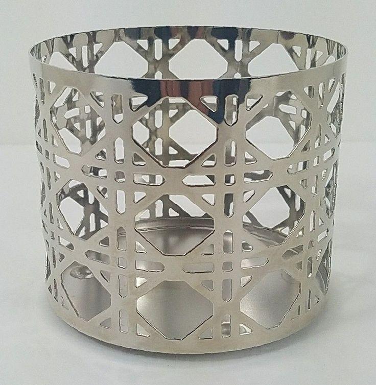 Bath Body Works Candle Sleeve 3 Wick Candle Holder Metal Lattice Design NLA New #BathandBodyWorks #Lattice