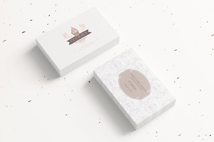 Cupcake Business Cards, Bakery Business Card, Cupcake business card, Bakery Bussines Card, Premade Business Cards, Custom Business Card by DejuDesign on Etsy