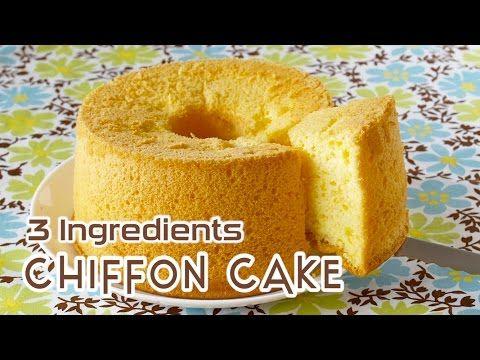 3-Ingredient Chiffon Cake 材料3つで簡単!シフォンケーキ - OCHIKERON - CREATE EAT HAPPY - YouTube