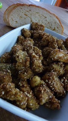 Ricetta del pollo croccante al sesamo con salsa di soia e miele