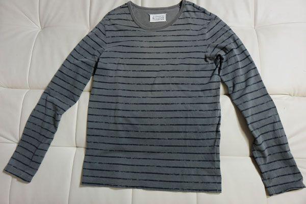 【メゾンマルタンマルジェラ(Maison Martin Margiela) かすれボーダーカットソー 長袖Tシャツ 10】  商品デューデリ(分析)  ■将来性など■ 良~可  作業用などに。ミリタリー風大人ボーダーT。定価28,350円、2006SS。 同ブランドは当初より一貫して「アンチモード」を掲げたブランドで、グランジファッションの先駆けとも言われているラグジュアリーブランド。 ■着心地など■ 良  サイズ表記は10ですが、ざっくりメンズ(日本人)M位の着用感でしょうか。 アーム長め、程よくス...