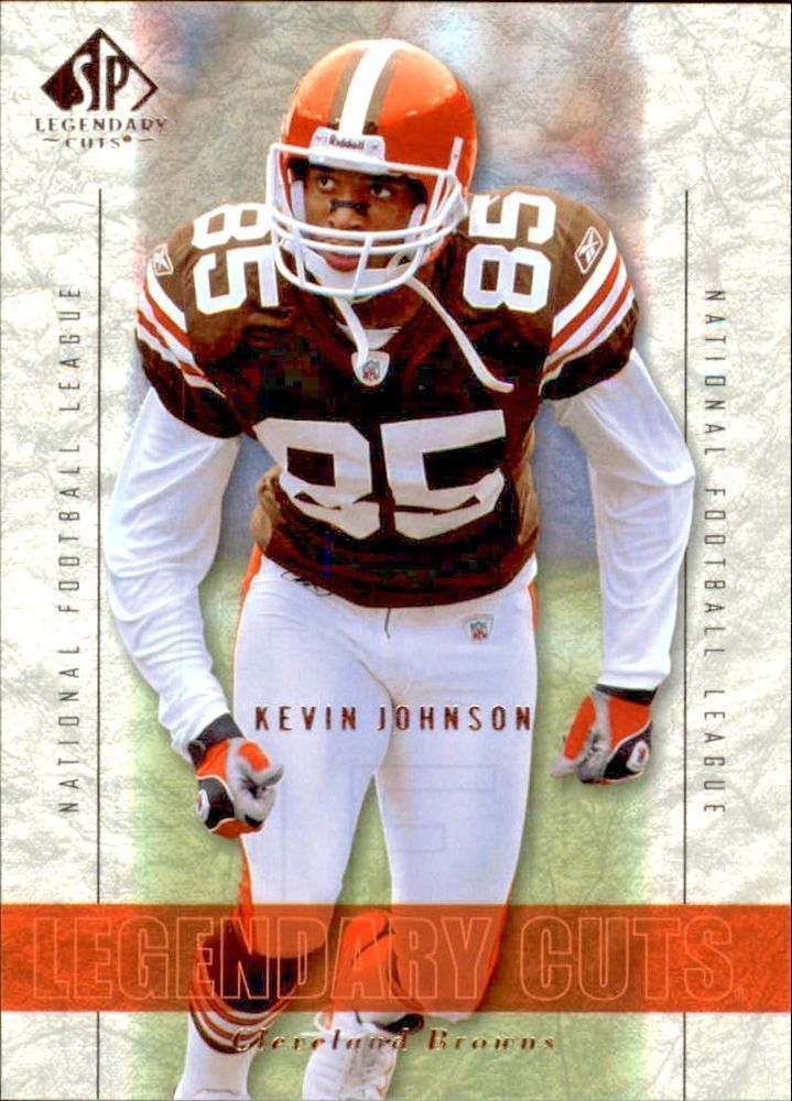 2002 SP Legendary Cuts #17 Kevin Johnson Team: Cleveland Browns