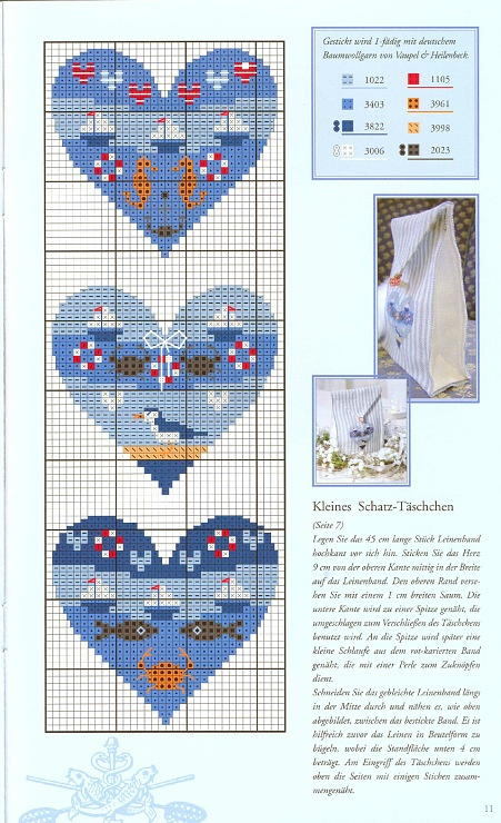 Cross-stitch Nautical Hearts, part 1..  with color chart...    Gallery.ru / Фото #3 - 763 - Yra3raza