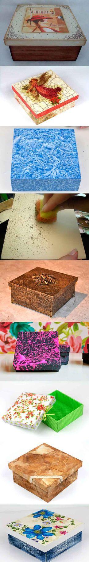 Mejores 484 imágenes de cajas en Pinterest | Arte de madera, Cuero y ...
