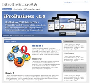iProBusiness 11 Color CSS3 Skin Pack for DNN6
