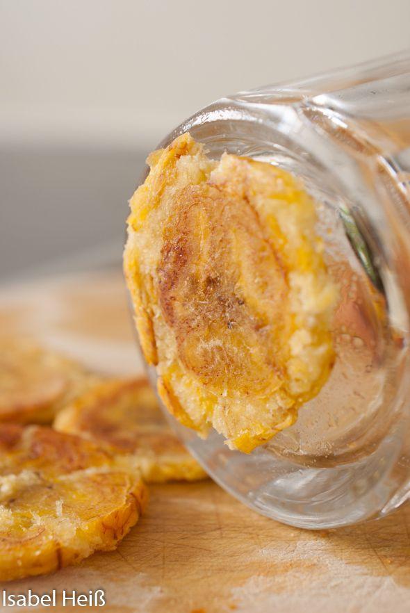 Rezept für Kochbananen- Chips auch bekannt als Tostones