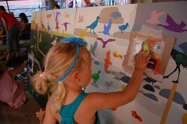 Yellow City Illustration Workshop at Skidit Festarit, Helsinki 29.7.2012