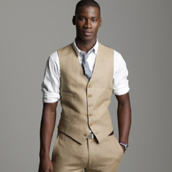 irish linen vest and pants wedding attire