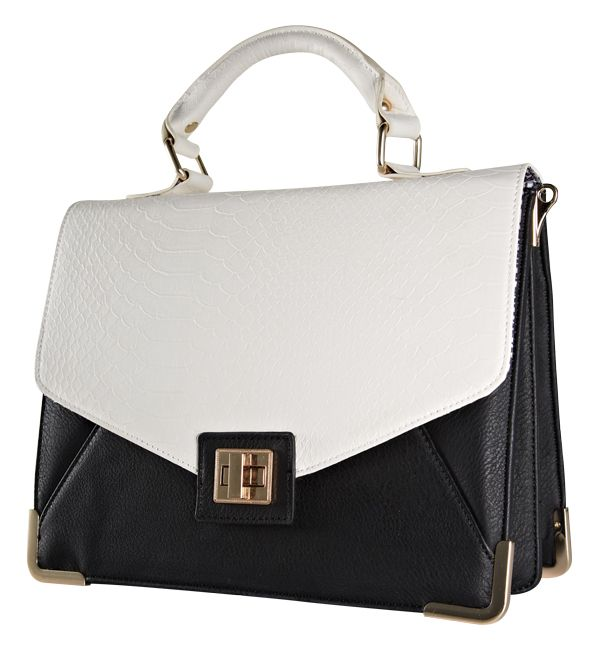Handbag from Forever New. #monochrome