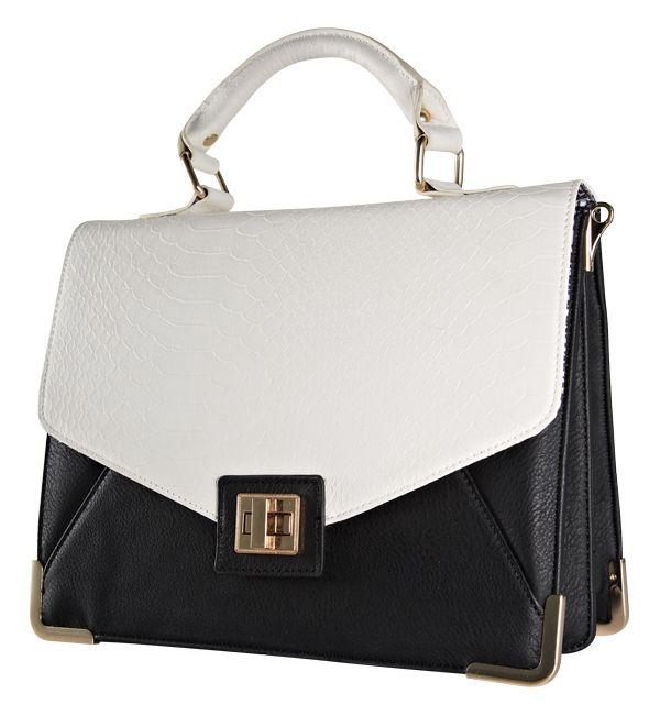 Handbag from Forever New. #monochrome