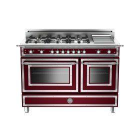 48 6 burner   griddle gas double oven matt burgundy 9 best beautiful appliances images on pinterest   kitchens la      rh   pinterest com