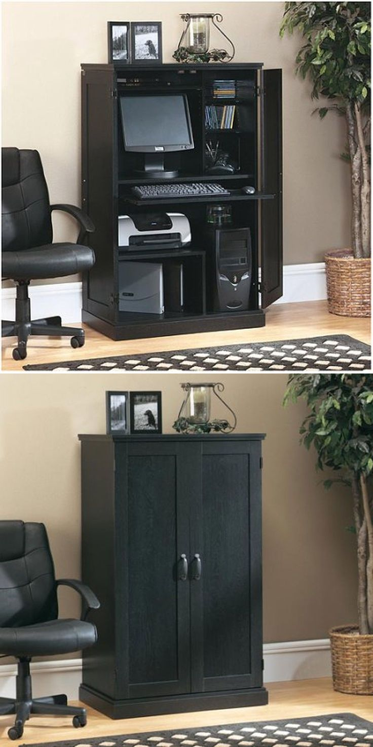 1000 ideas about computer armoire on pinterest armoires offices and computer desks - Computer armoires for small spaces property ...