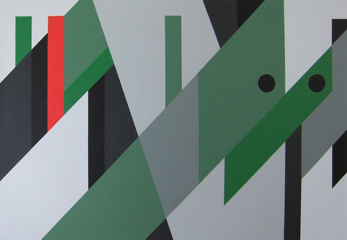 "Peter Saville artwork for OMD's ""Dazzle Ships"""