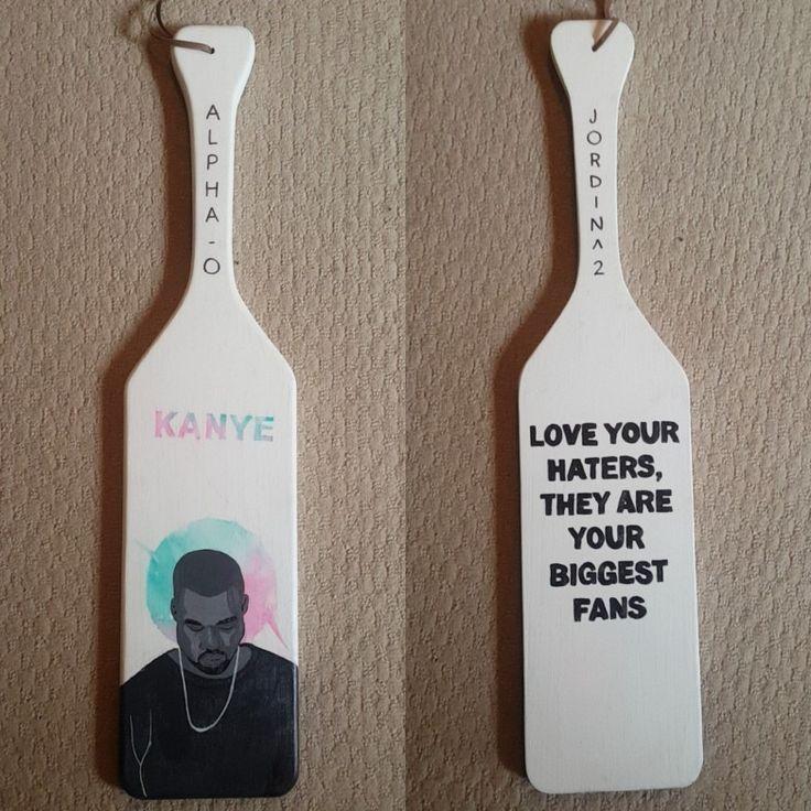 Sorority paddle . Kanye . Water colour .  Minimal . AOII