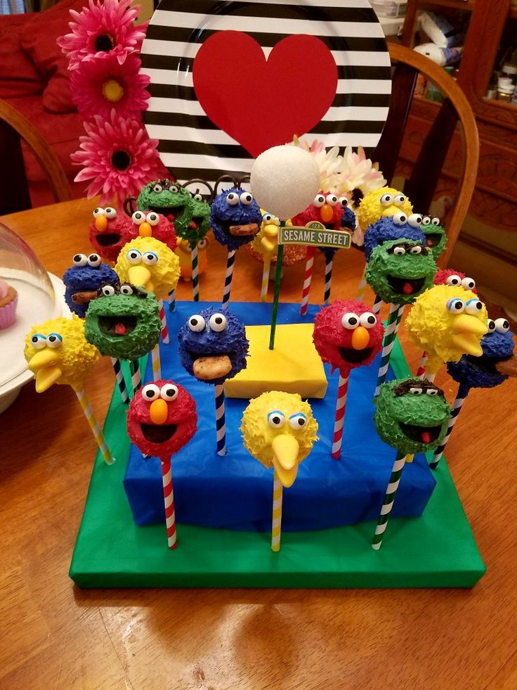 #THECAKEPOPFAIRIES Sesame Street Cake Pops Big Bird, Cookie Monster, Elmo, Oscar the Grouch The Cake Pop Fairies
