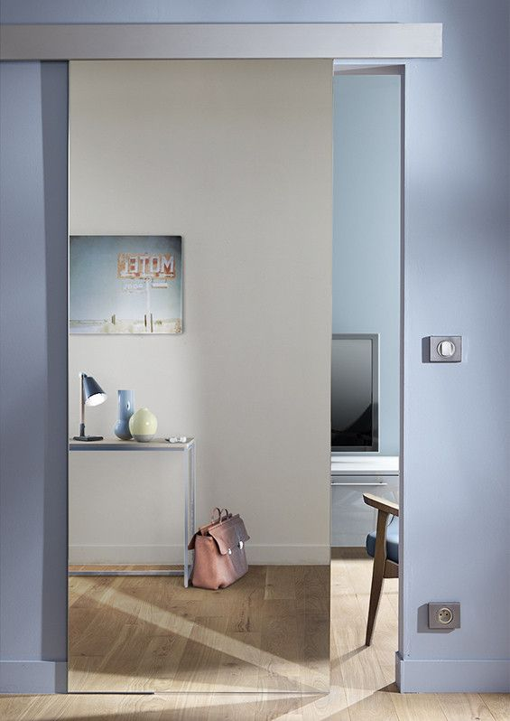 25 best ideas about porte coulissante miroir on pinterest - Porte coulissante industrielle ...