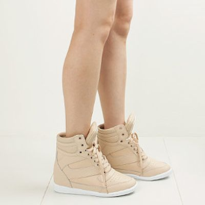 Womens High Top Sneakers Wedge Trainers Shoes Ladies Platform Ankle Boots | eBay