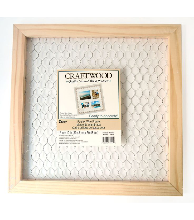 Darice Craftwood Square Unfinished Wood Frame With Chicken Wire In 2020 Chicken Wire Frame Unfinished Frames Wood Crafts