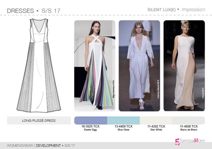 See the new forecasting fashion trends about Bourgeoise, Flamboyant, Impression, Survivalist SS17 | Womenswear| Development | Dresses, Fashion & Product development ai CAD with 5forecastore.