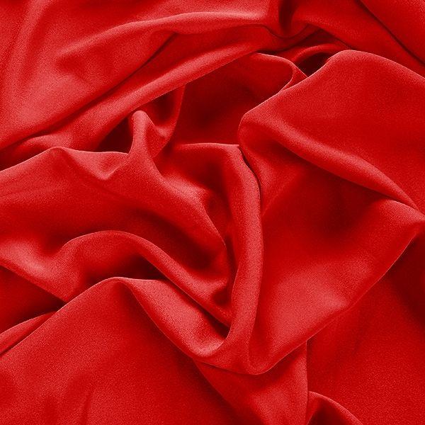 Krepdešín imitace hedvábí jasně červená